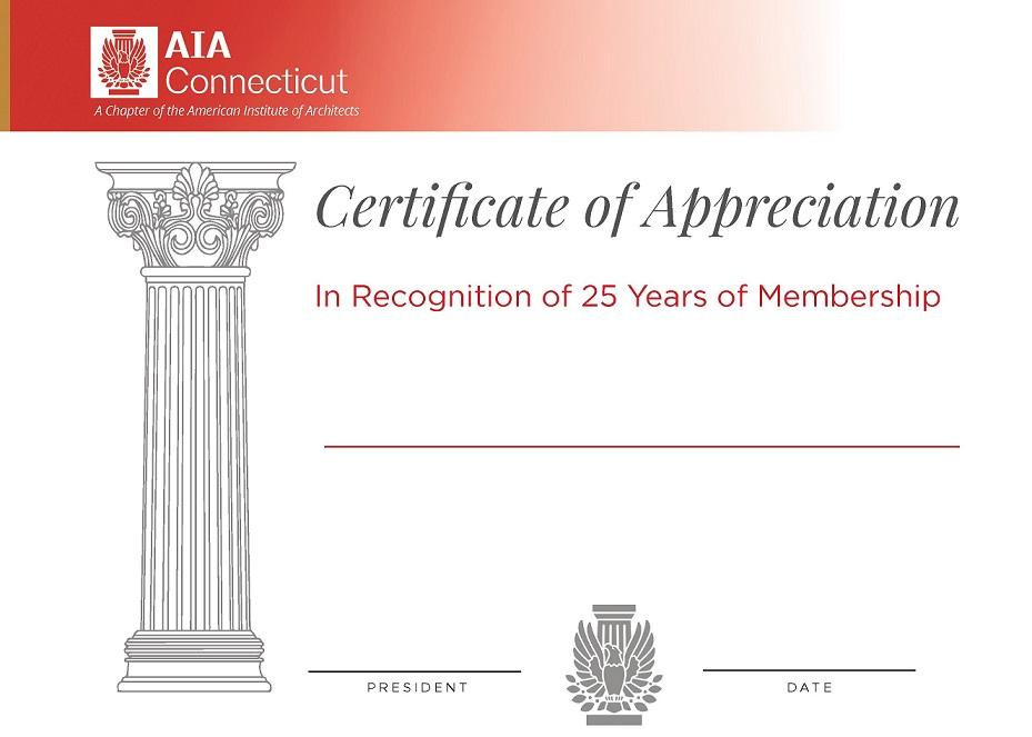 25 year certificate