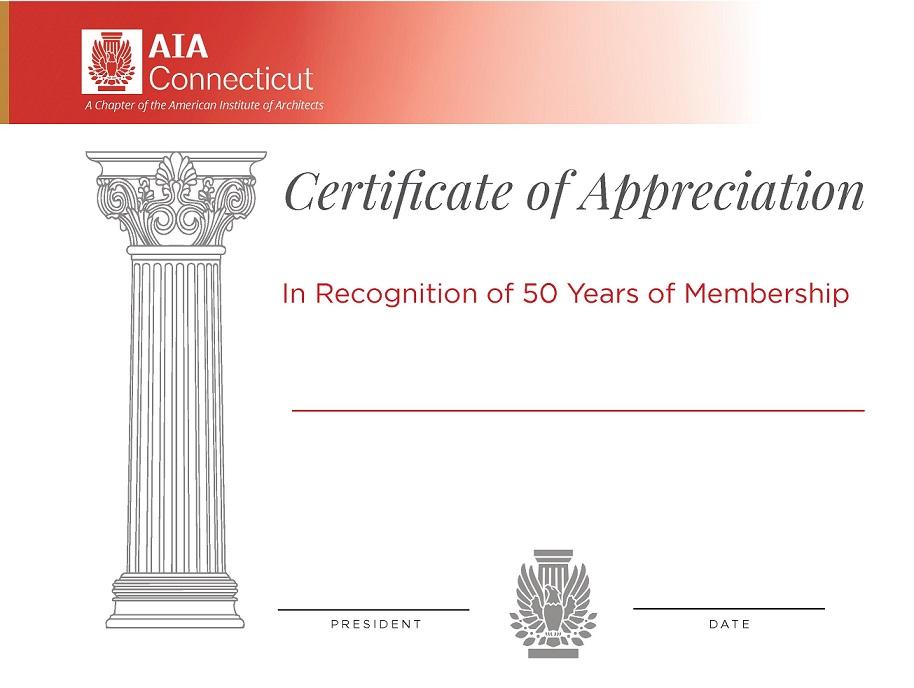 50 year certificate